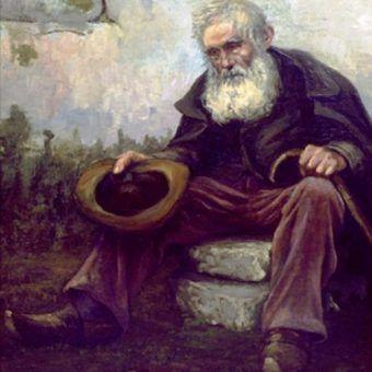 """Skrajna nędza może popchnąć do żebractwa, albo... kradzieży. Obraz Louisa Dewiesa """"Stary żebrak"""" (źródło: domena publiczna)."""