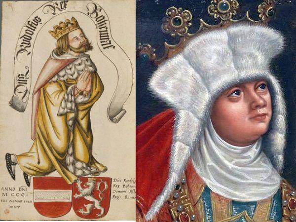 Rudolf i Ryksa mogli zostać całkiem udaną parą gdyby nie pech królewny. Świeżo poślubiony mąż dość szybko pożegnał się z życiem (źródło: domena publiczna).