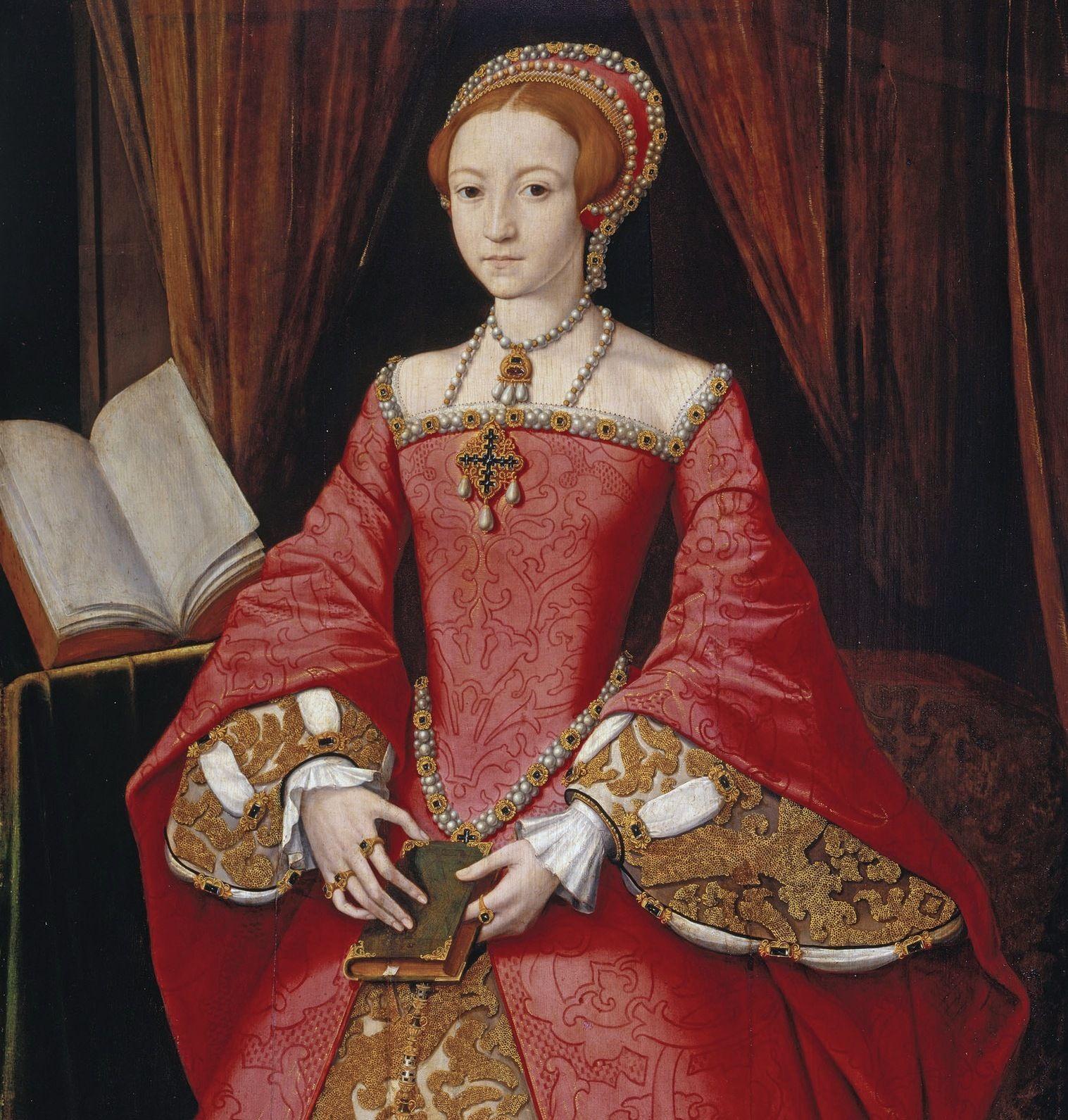 13-letnia Elżbieta... czy może chłopiec z Bisle. Bo czyż kobieta mogła mieć tak długie palce i smukłą sylwetkę? (źródło: domena publiczna).