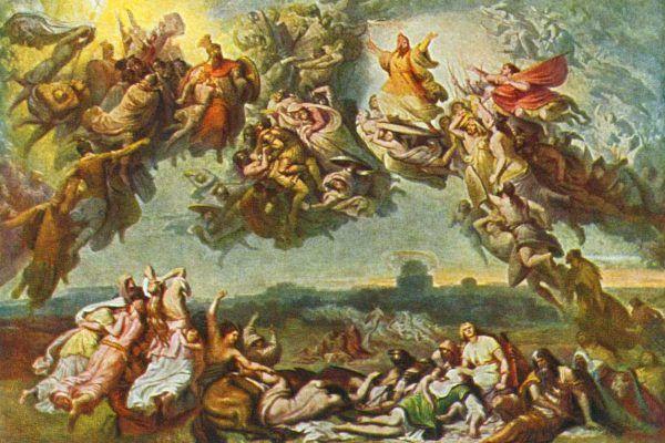 Hunowie siali terror, unikając otwartych starć, takich jak Bitwa na Polach Katalaunijskich. Obraz Wilhelma von Kaulbacha (źródło: domena publiczna).