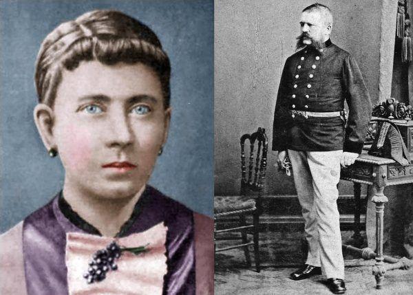 Rodzice Hitlera, Klara i Alois. Matka ubóstwiała syna, ojciec za to nim pomiatał (źródło: domena publiczna).
