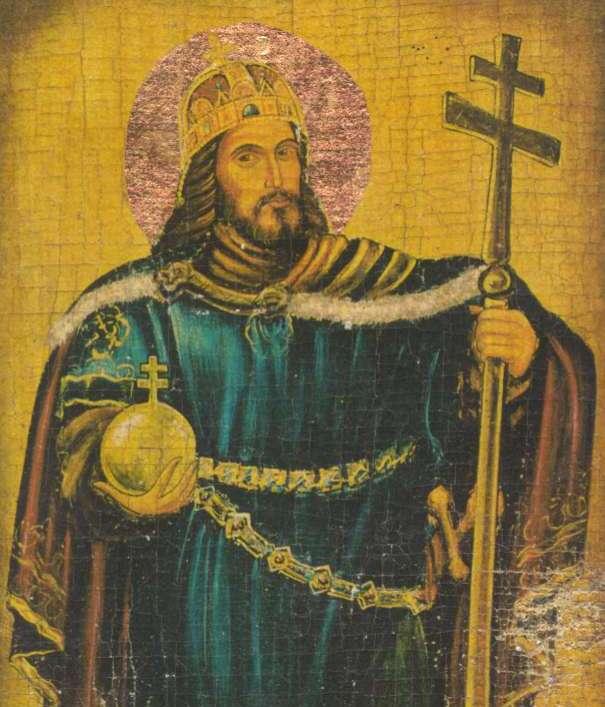By zasłużyć na swój przydomek, Stefan I Święty bezwzględnie zwalczał pogan (źródło: domena publiczna).