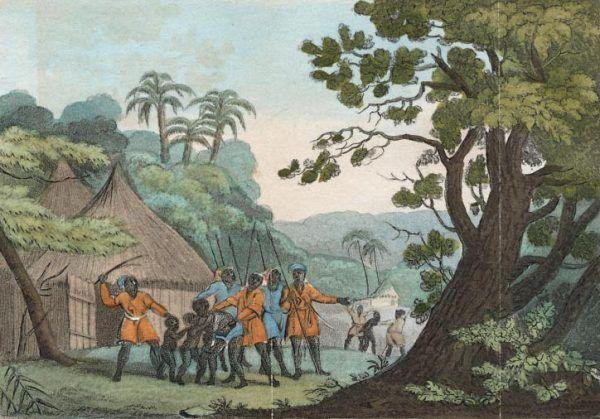 Rentowność handlu niewolnikami kusi większość europejskich państw, które chcą czerpać zyski z procederu. Ale samo łapanie nieszczęśników było zadaniem ich pobratymców (źródło: domena publiczna).