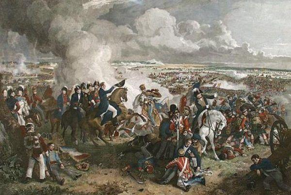 Czyżby Napoleon przegrał pod Waterloo, bo zabrakło mu zwiadu z powietrza? (źródło: domena publiczna).