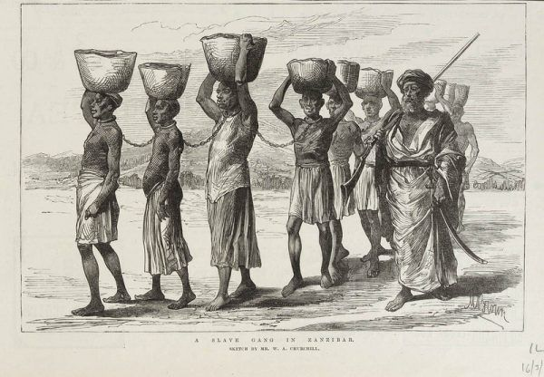 Niewolnictwo w Afryce miało długą tradycję, jeszcze zanim nieszczęśnicy z Czarnego Lądu zaczęli trafiać do amerykańskich plantacji bawełny (źródło: domena publiczna).