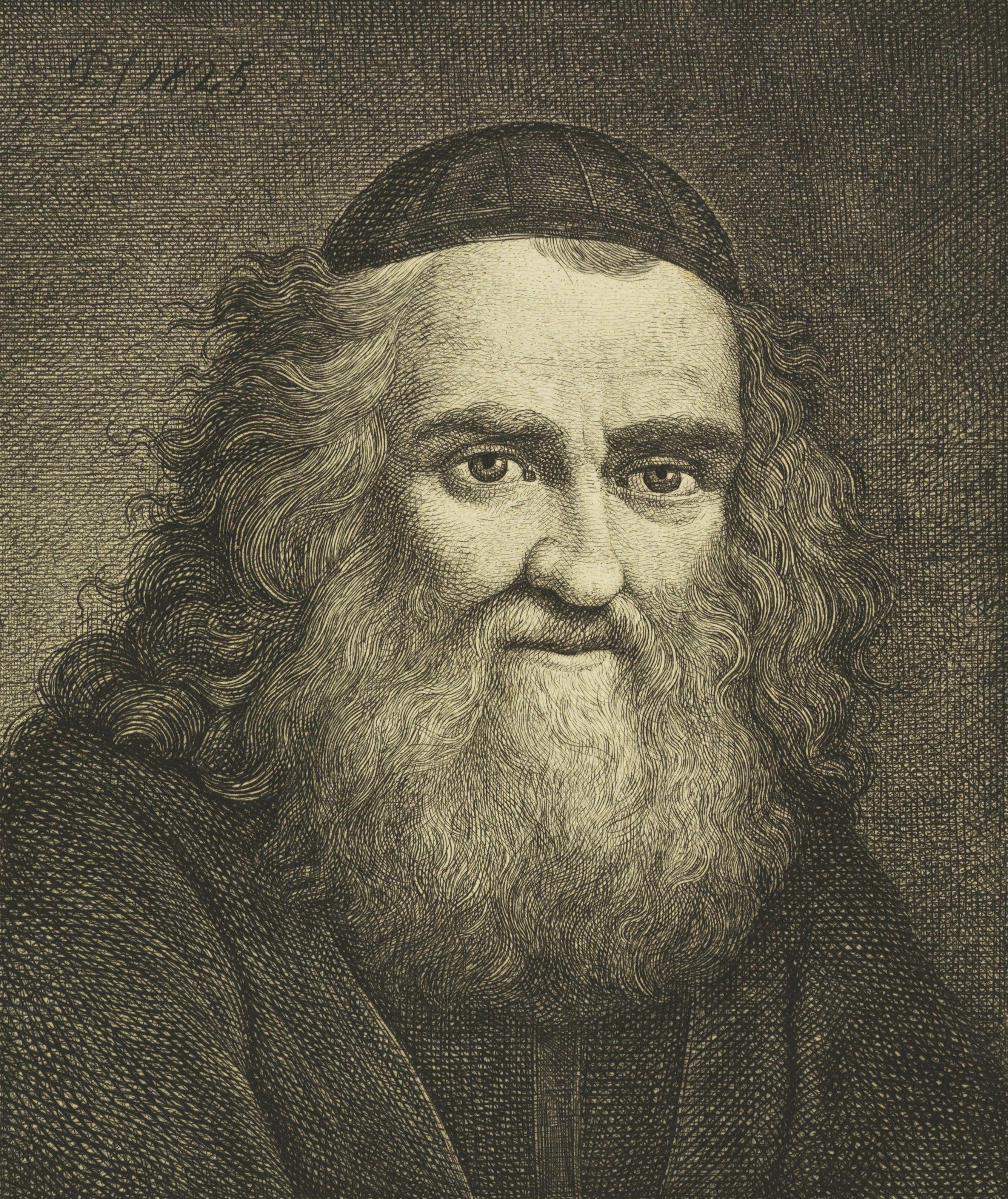 Abraham Stern na akwaforcie autorstwa Jana Feliksa Piwarskiego (źródło: domena publiczna).