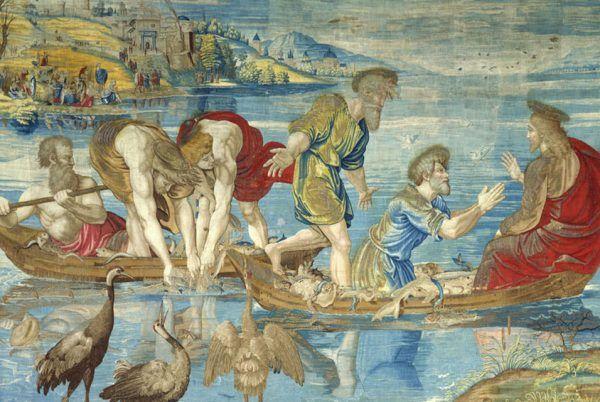 Trudno znaleźć w Ewangeliach jakiekolwiek pozytywne słowa kierowane przez Jezusa do zwierząt. Arras Pietera van Aelsta na podstawie obrazu Rafaela (źródło: domena publiczna).