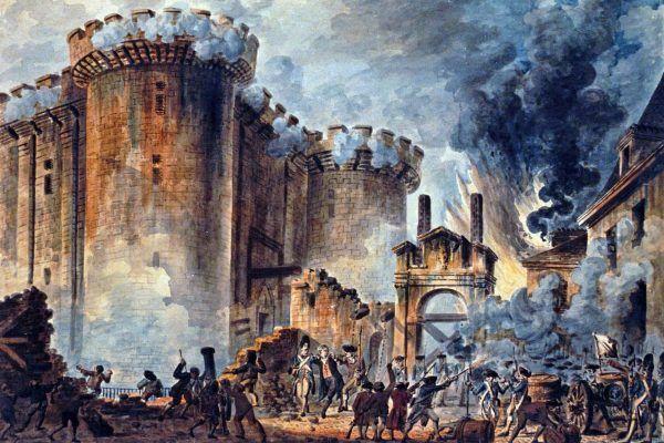 """Zdobycie Bastylii do dziś upamiętniane jest we Francji jako Święto Narodowe. Obraz """"Szturm na Bastylię"""" pędzla Jeana-Pierre'a Houëla (źródło: domena publiczna)."""