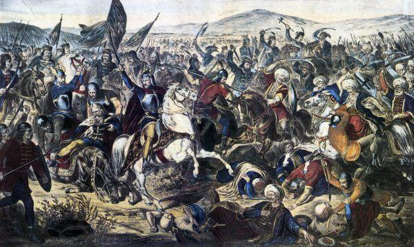 Źródłem serbskiego mesjanizmu jest bitwa o Kosowo, a właściwie jej obraz wytworzony przez rodzimą hagiografię i przekazy ludowe. Obraz pędzla Adama Stefanowića (źródło: domena publiczna).