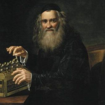 Na naszej liście nie mogło zabraknąć Abrahama Sterna, jednego z ojców cybernetyki. Portret Sterna pędzla Antoni Blank (źródło: domena publiczna).