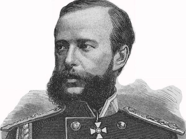 Generał-gubernator Aleksander Imeretyński na litografii Piotra Borela z 1877 roku (źródło: domena publiczna).