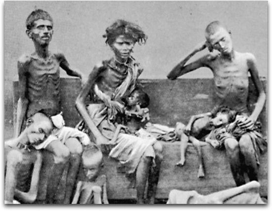 Indyjskie ofiary głodu. Ich życie było totalnie obojętne białym władcom Indii (źródło: british royal photography services - chinadaily, domena publiczna).