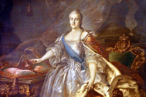 33-letnia Katarzyna II na obrazie pędzla Iwana Argunowa (źródło: domena publiczna).