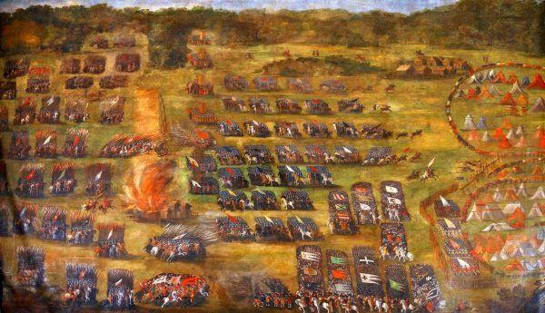 Pod Kłuszynem niektóre husarskie roty szarżowały aż dziesięć razy! Na ilustracji obraz pędzla Szymona Boguszowicza przedstawiający rzeczoną batalię (lic. domena publiczna).