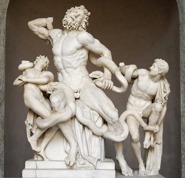 Słynna grupa Laokoona zdobiła pierwotnie Termy Trajana (źródło: domena publiczna).
