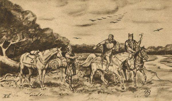 Kto z nas nie zna legendy o Lechu, Czechu i Rusie? (źródło: domena publiczna).