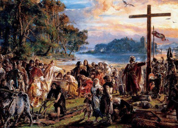 Chrystianizacja Polski według Jana Matejki (źródło: domena publiczna).
