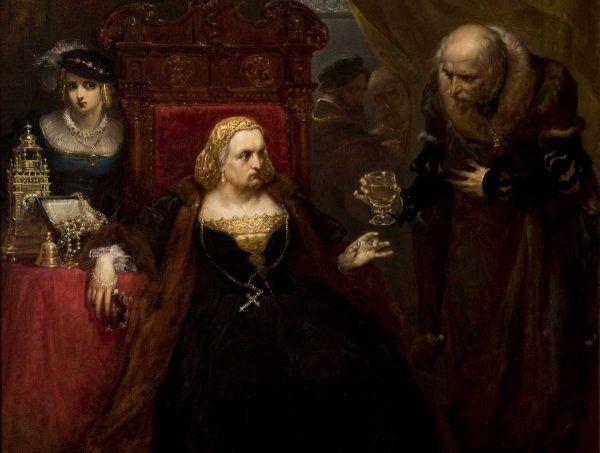 Otrucie królowej Bony na obrazie Jana Matejki (źródło: domena publiczna).