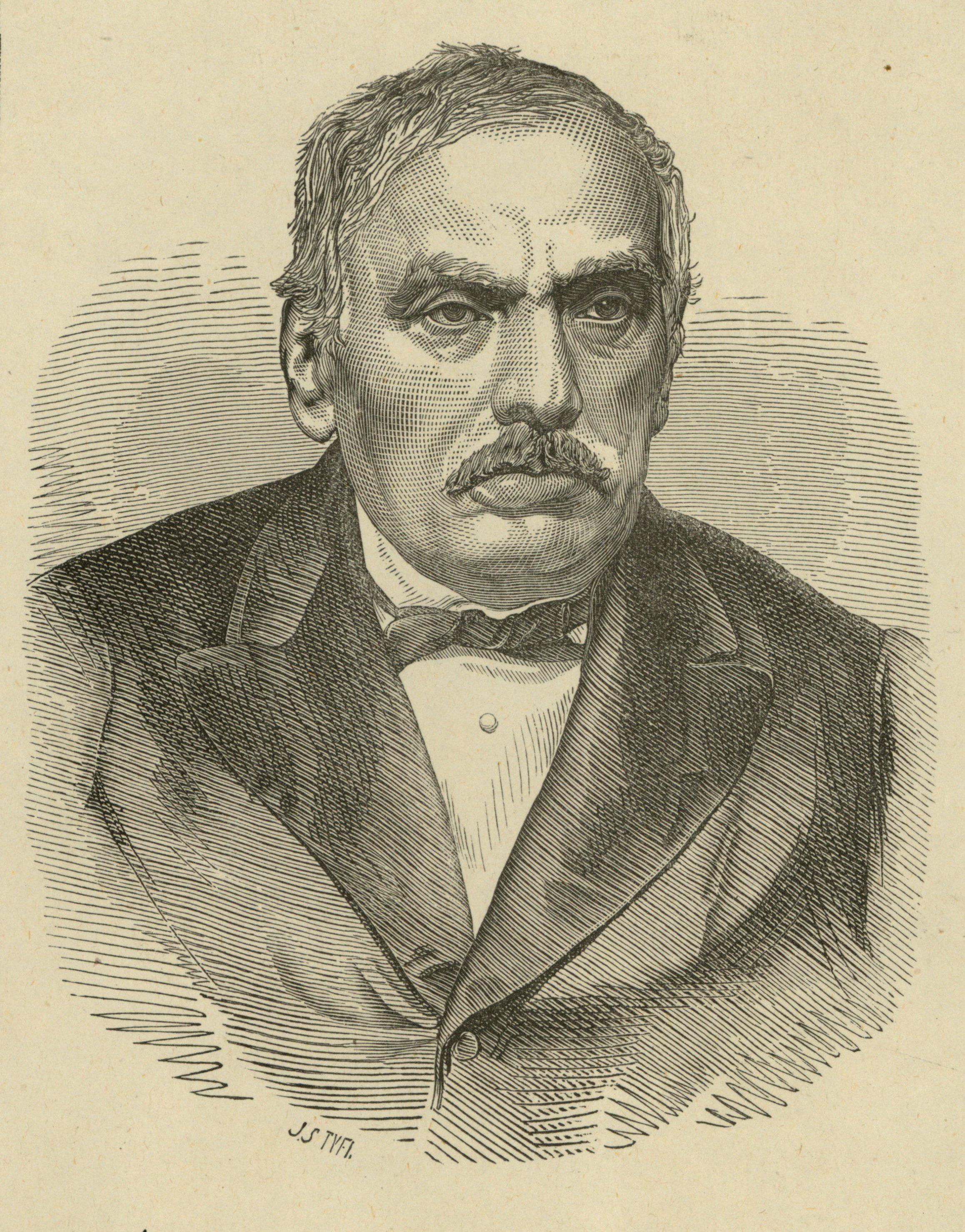 Samuel Orgelbrand . To właśnie jemu zawdzięczamy pierwszą polską wielotomową encyklopedię (autor: Jan Styfi; źródło: domena publiczna).