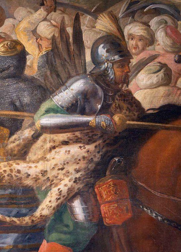 """Oczywiście, że husarze używali skrzydeł! Czego dowodzi na przykład powyższy fragment XVII-wiecznego obrazu """"Bitwa pod Wiedniem"""" (autor: Marcin Altomonte; lic. domena publiczna)."""