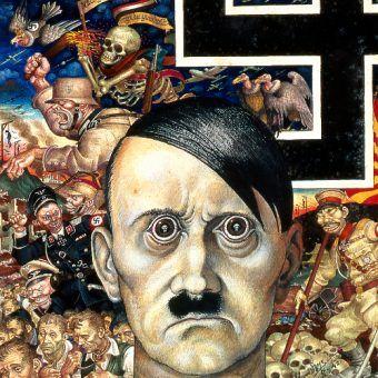Nim doszedł do władzy, wielu pogardzało Hitlerem. Zaledwie garstka przewidywała, do czego jest zdolny... (autor: Artur Szyk, lic.: CC BY-SA 4.0).