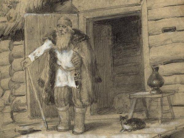 Owczarz z Czarnostowa raczej nie przypominał Geralta z Rivii. Prędzej możemy go sobie tak wyobrazić, jak na tym dziele Borysa Wasiliewicza Smirnowa (źródło: domena publiczna).
