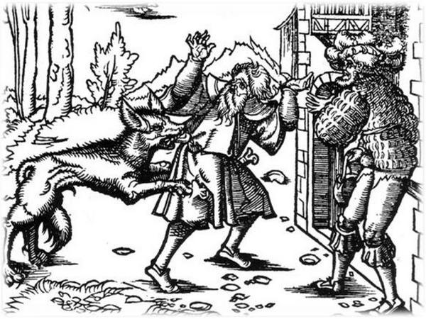 Dla mieszkańców wsi Myscowa wilkołak zapewne wyglądał jak ten z XVI-wiecznego drzeworytu.