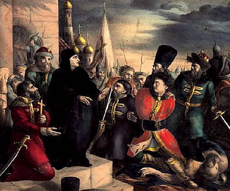 Maria Nagoj, ostatnia żona cara Iwana, demaskuje Dymitra I Samozwańca