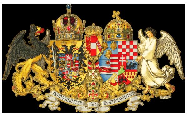 Herb Austro-Węgier (autor: Hugo Gerhard Ströhl, źródło: domena publiczna).