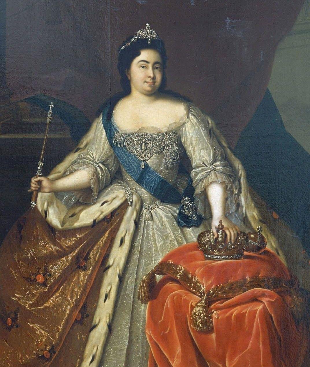 Katarzyna u progu swoich samodzielnych rządów. Portret pędzla Heinricha Buchholza (źródło: domena publiczna).