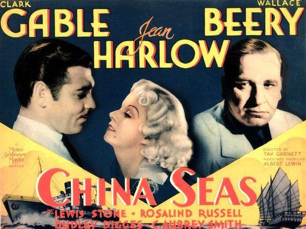 """Platynowa, zalotna piękność... można śmiało dodać, że także zabójcza. I to dosłownie... Plakat promujący film """"Morze Chińskie"""" z 1935 roku (źródło: domena publiczna)."""