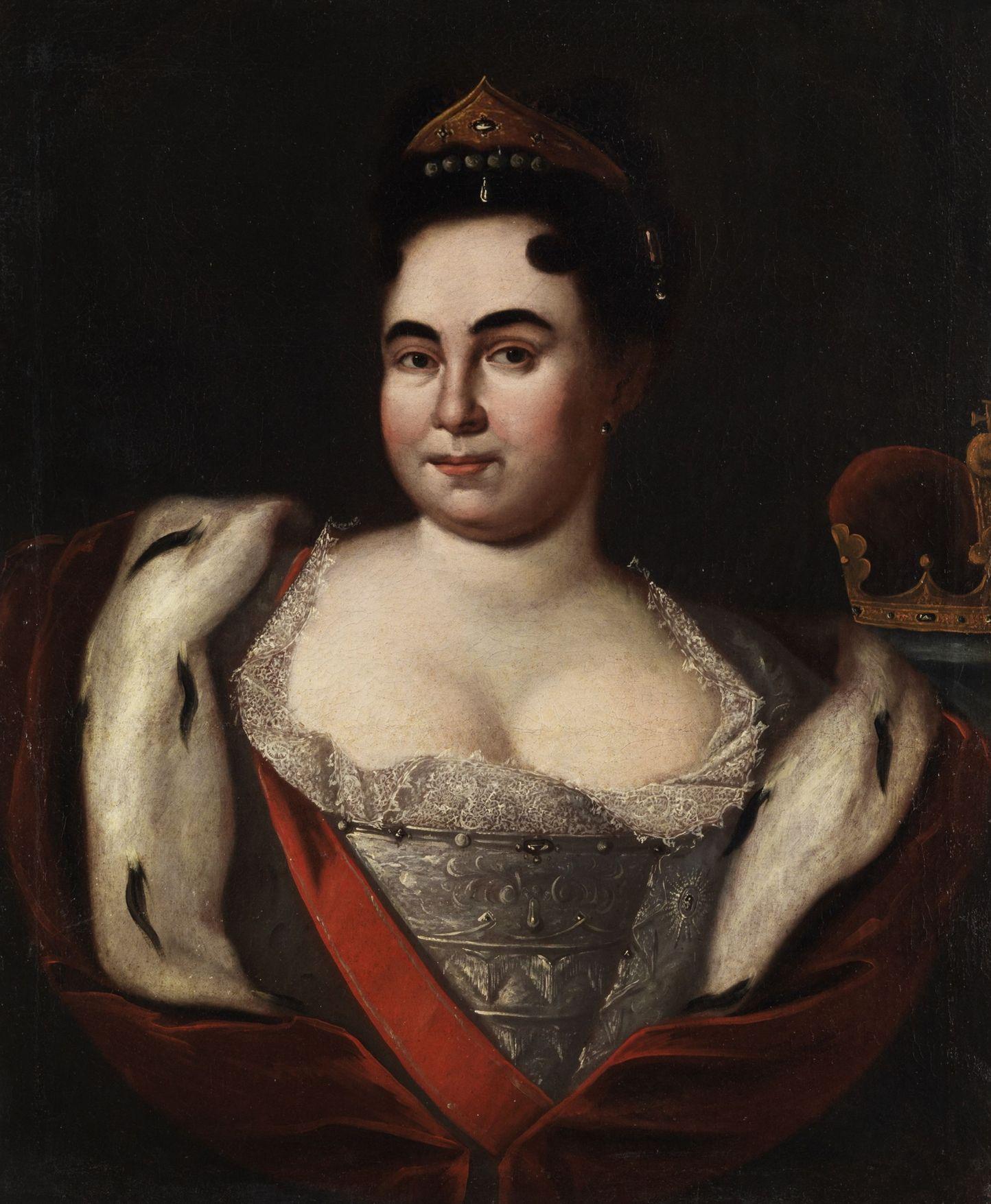 Katarzyna nie była klasyczną pięknością, za to lubiła się śmiać i nie wylewała za kołnierz. Zadowalała Piotra pod każdym względem (źródło: domena publiczna).