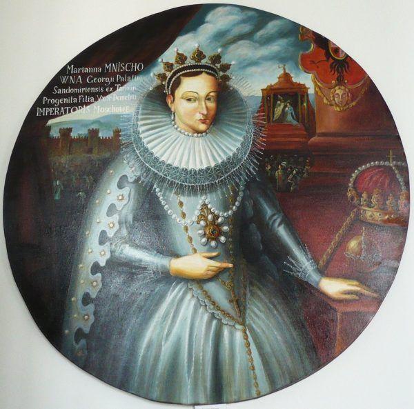 Piękna Maryna Mniszchówna na obrazie z Wiśniowca (fot. Tomasz Leśniowski, lic. CC BY-SA 3.0).