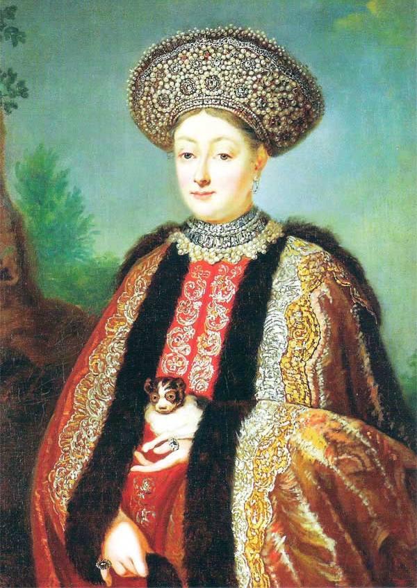 Po śmierci Agaty Fiodor - chcąc nie chcąc - musiał wziąć ponowny ślub. Jego wybranką została bojarska córka Marfa Apraksina (źródło: domena publiczna).