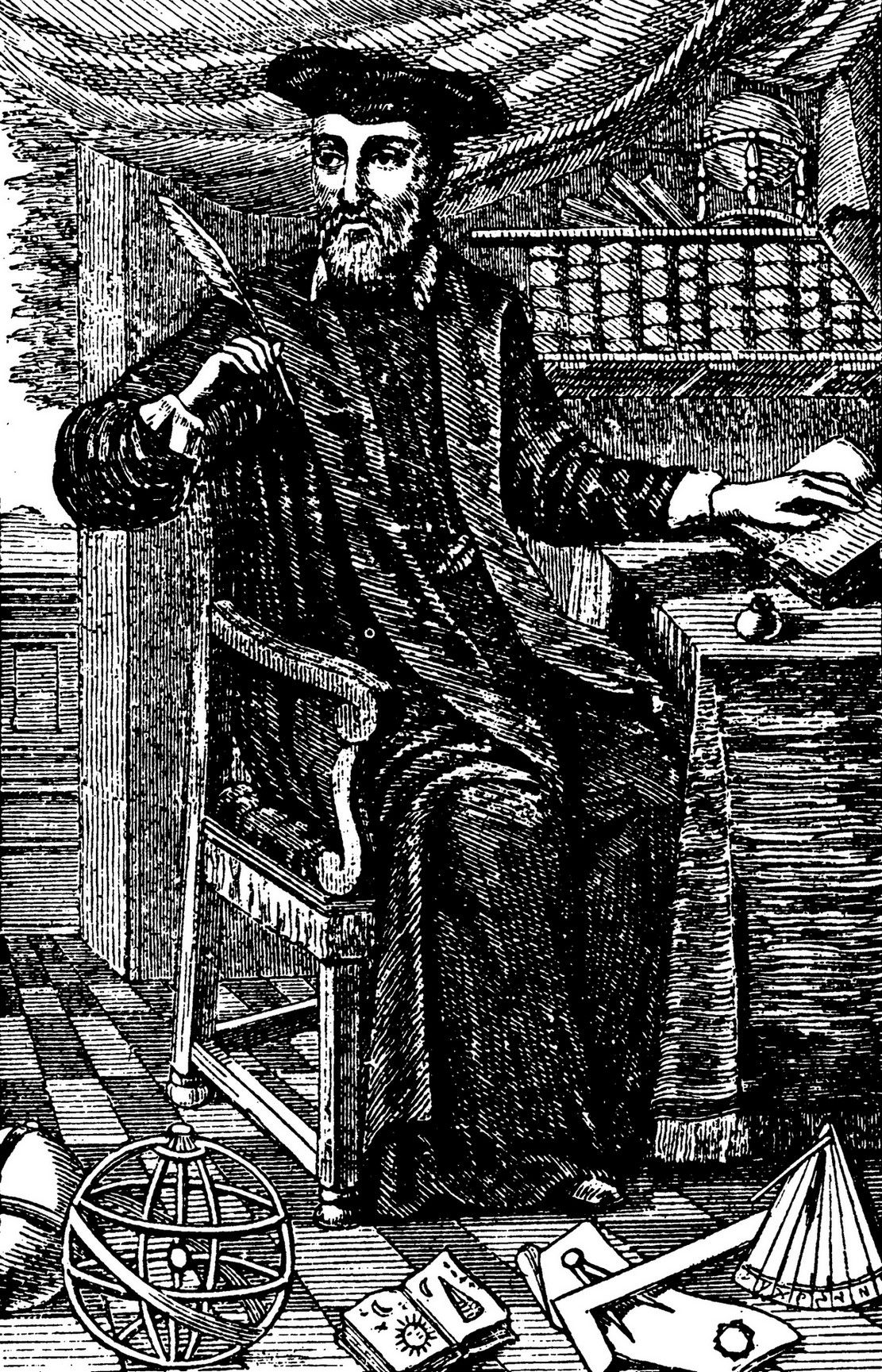 """Przywoływanie w zaklęciach Nostradamusa jako sposób na uzdrowienie trędowatego? Cóż, to nie najbardziej kuriozalna metoda """"leczenia"""", a przynajmniej niezbyt szkodliwa... Portret Nostradamusa z kolekcji jego przepowiedni wydanej w 1666 roku (źródło: domena publiczna)."""