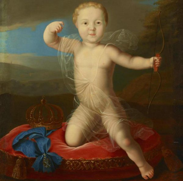 Po powrocie do kraju Aleksy stracił tron na rzecz swojego przyrodniego braciszka, Piotra. Mały Piotr Piotrowicz jako kupidyn (źródło: domena publiczna).
