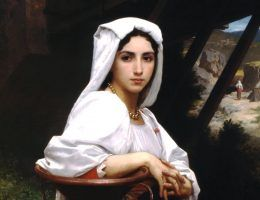 William Adolphe Bouguereau Italian Girl Drawing Water (1871)