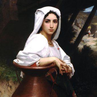 Obraz Williama Adolphe'a Bouguereau z 1871 roku przedstawiający piękną włoską dziewczynę przy studni (źródło: domena pubcliczna).