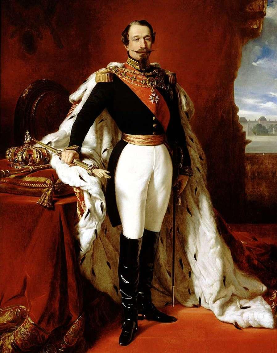 Trzeba przyznać, że Virginia poradziła sobie z powierzoną misją i bardzo pozytywnie ustosunkowała Napoleona III do kwestii niepodległości Włoch... Obraz Franza Xavera Winterhaltera z 1855 roku (źródło: domena publiczna).