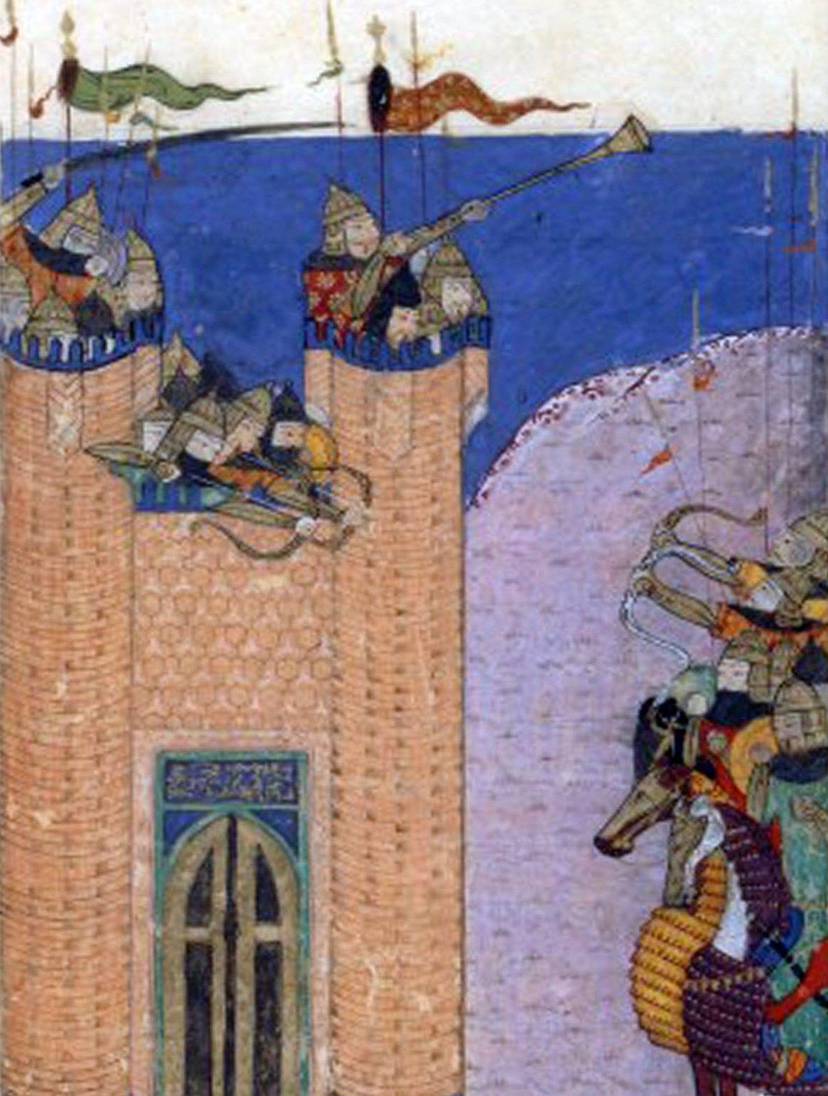 Historia państwa Nizarytów zakończyła się wraz ze zdobyciem Alamutu przez Mongołów w 1256 roku. Twierdza została zburzona, a ten, który ją poddał, bardzo źle na tym wyszedł... Miniatura z epoki przedstawiająca oblężenie (źródło: domena publiczna).