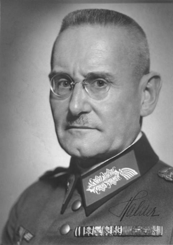 Generał Franz Halder, to jego adiutant miał zgładzić Hitlera (źródło: Bundesarchiv; lic. CC-BY-SA 3.0).