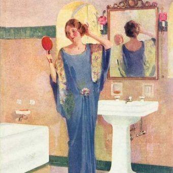 Na tak luksusową łazienkę w międzywojennej Polsce mogli pozwolić sobie tylko najbogatsi (źródło: domena publiczna).