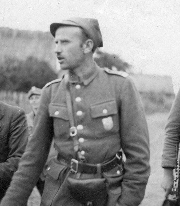 """Zygmunt Szendzielarz ps. """"Łupaszka"""", dowódca Zygmunta Błażejewicza ps. """"Zygmunt"""" (fot. domena publiczna)."""