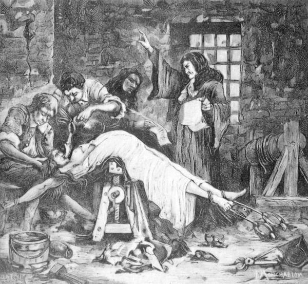 Tortura wodna była popularna nie tylko w Japonii (źródło: domena publiczna).
