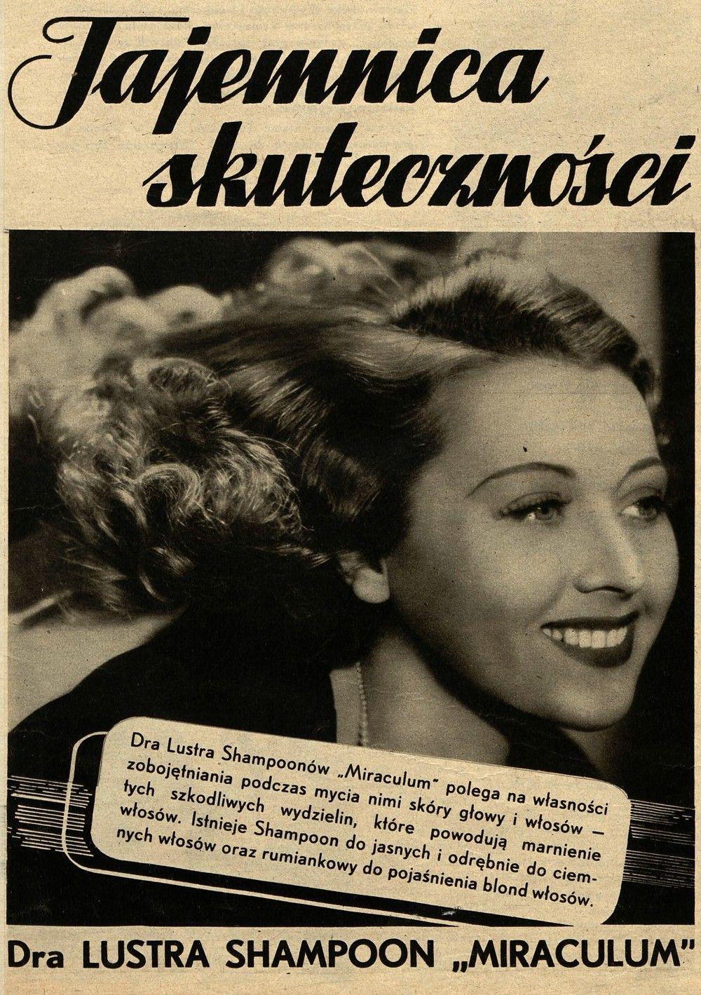 """Leon Luster nie szczędził grosza na reklamę. Tutaj reklama szamponu zamieszczona w jednym z numerów poczytnego """"Światowida"""" (źródło: domena publiczna)."""