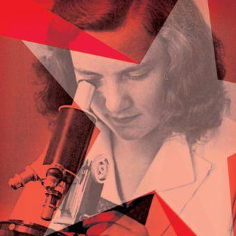 """Fragment okładki książki """"Naukowcy spod czerwonej gwiazdy"""", właśnie wydanej przez Wydawnictwo Naukowe PWN."""