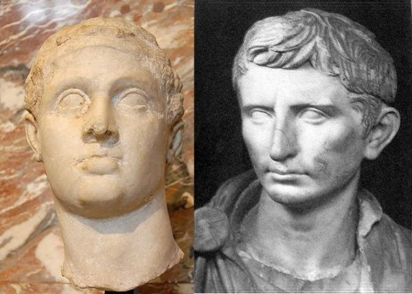 Aby wymierzyć sprawiedliwość zabójcom Cezara swoje siły połączyli, dotychczas skłóceni Marek Antoniusz i Oktawian August (źródło: domena publiczna).
