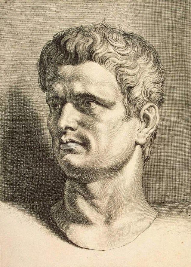 Brutus wybrał śmierć z rąk własnego przyjaciela. Na ilustracji podobizna Brutusa autorstwa Petera Paula Rubensa (źródło: domena publiczna).