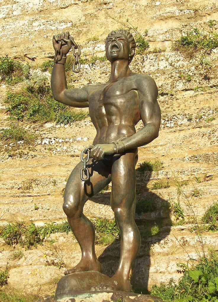 Pomnik Eunus w miejscowości Enna na Sycylii (fot. Eannatum; lic. CC BY-SA 3.0).