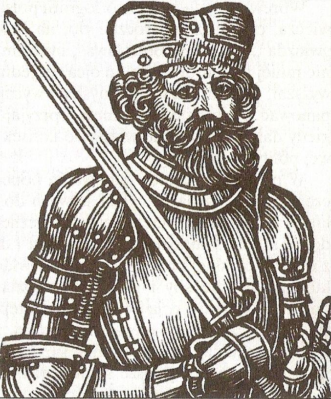 Jeden błąd z młodości sprawił, że pierworodny syn Bolesława Chrobrego stracił wszelkie szanse na objęcie schedy po ojcu. Na ilustracji XVII-wieczne wyobrażenie Bezpryma (źródło: domena publiczna).